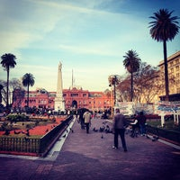 Photo taken at Plaza de Mayo by Cristiano S. on 9/3/2013