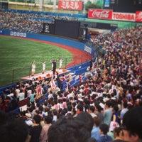 Photo taken at Meiji Jingu Stadium by Momo W. on 6/1/2013