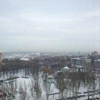 Photo taken at башня Донецк сити by Fedir on 1/16/2013