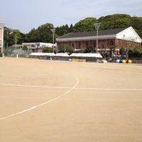 Photo taken at 石田小中学校 グラウンド by Kosuke W. on 4/28/2013