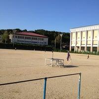 Photo taken at 石田小中学校 グラウンド by Kosuke W. on 10/12/2013