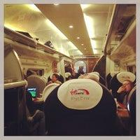 Photo taken at Manchester Piccadilly (MAN) to London Euston (EUS) Train by Oleg Z. on 1/6/2013