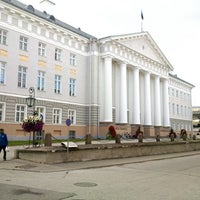 Photo taken at University of Tartu main building by Artemio C. on 8/15/2013