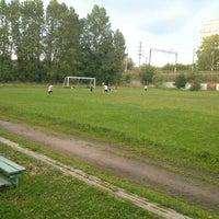 "Photo taken at Стадион ""СпортСервис"" by Artemio C. on 8/19/2013"