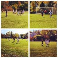 Photo taken at St Kate's Soccer Field by Elizabeth N. on 10/7/2012