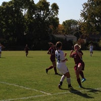 Photo taken at St Kate's Soccer Field by Elizabeth N. on 9/29/2012