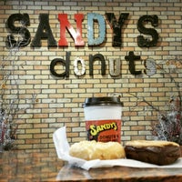 Photo taken at Sandy's Donuts by Christopher S. on 1/28/2015