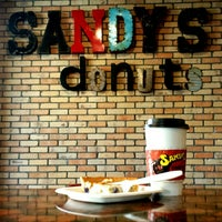 Photo taken at Sandy's Donuts by Christopher S. on 4/27/2015