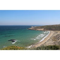 Photo taken at Tuzburnu Plajı by Han M. on 11/4/2013