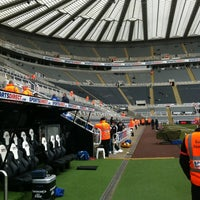 Photo taken at St James' Park by Geoff P. on 4/7/2013