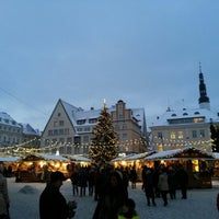 Photo taken at Town Hall Square by Piruza H. on 12/6/2012