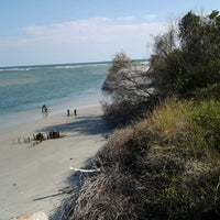 Photo taken at Pawleys Island Beach by Nancy H. on 10/6/2012