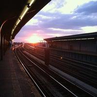Photo taken at MTA Subway - Rockaway Blvd (A) by Amy M. on 3/21/2013