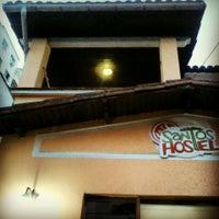 Photo taken at Santos Hostel by Gabriel R. on 1/26/2014
