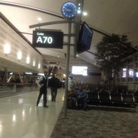 Photo taken at Gate A70 by Donna G. on 11/4/2013