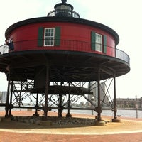 Photo taken at Seven Foot Knoll Lighthouse by Kim D. on 6/1/2013