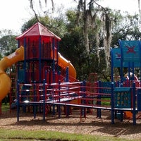 Photo taken at Playground @ R.E. Olds Park by Jaime L. on 12/15/2012