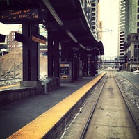 Photo taken at Nicollet Mall LRT Station by Cole K. on 12/23/2012