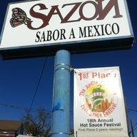 Photo taken at Sazón by Jeff T. on 11/24/2012