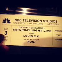 Photo taken at Studio 8H - Saturday Night Live by Johanna F. on 11/3/2012