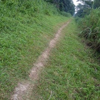 Photo taken at Old KTM Railway Trackbed (Hindhede) by gerard t. on 9/19/2012
