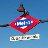 Photo taken at Metro Ciudad Universitaria by gerard t. on 6/28/2015