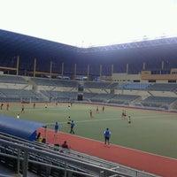 Photo taken at Stadium Hoki Nasional by Husaini O. on 5/31/2013