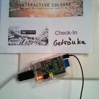 Das Foto wurde bei Interactive Cologne von Oana C. am 6/19/2013 aufgenommen