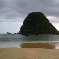 Photo taken at Red Island Beach by rachma e. on 8/14/2013