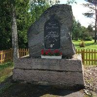 Photo taken at Berga Glas-Bruk minnesmärke by Kai M. on 6/21/2013