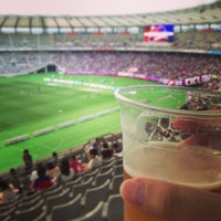 Photo taken at Ajinomoto Stadium by chab_day on 7/6/2013