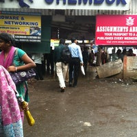 Photo taken at Chembur Railway Station by Salam J. on 7/19/2013