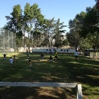 Photo taken at Pumitas C.U., Futbol A.C. by Cuitlahuac A. on 3/9/2013