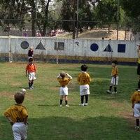 Photo taken at Pumitas C.U., Futbol A.C. by Cuitlahuac A. on 5/11/2013