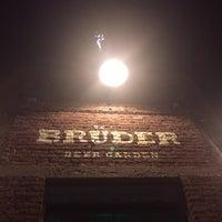 Photo taken at Brüder Beer Garden by Christian C. on 2/8/2014