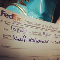 Photo taken at FedEx by Nouf A. on 10/13/2012
