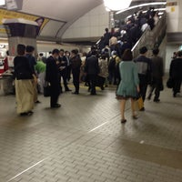 Photo taken at Midosuji Line Umeda Station (M16) by Kosei Y. on 5/8/2013