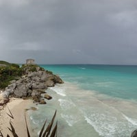 Photo taken at Tulum Archeological Site by Nacho D. on 12/27/2012