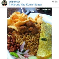 Photo taken at Warung Yap Kumis by Kuliner M. on 11/22/2013