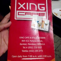 Photo taken at Xing Cafe & KTV Restobar by Arvin D. on 11/8/2014