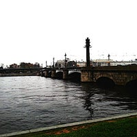 Photo taken at Ушаковский мост by Eka G. on 10/15/2012
