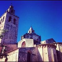 Photo taken at Monestir de Sant Cugat by Martí P. on 11/1/2012
