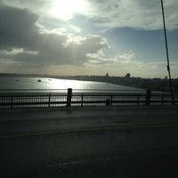 Photo taken at Bosphorus Bridge by Ekrem K. on 3/15/2013