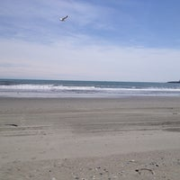 Photo taken at Easton's Beach by Greg S. on 4/25/2013