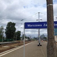 Photo taken at Warsaw West Railway Station by Michał G. on 7/30/2013