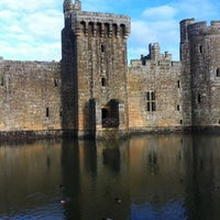 Photo taken at Bodiam Castle by Dom H. on 12/16/2012