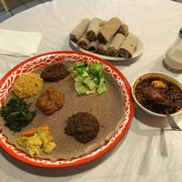 Photo taken at Awash Ethiopian Restaurant by Marissa on 10/15/2016