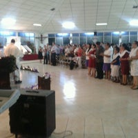Photo taken at Iglesia Perpetuo Socorro by Fidel E. on 12/25/2012