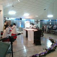 Photo taken at Iglesia Perpetuo Socorro by Fidel E. on 1/1/2013