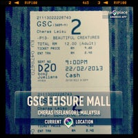 Photo taken at Golden Screen Cinemas (GSC) by Lexymaz Y. on 2/22/2013